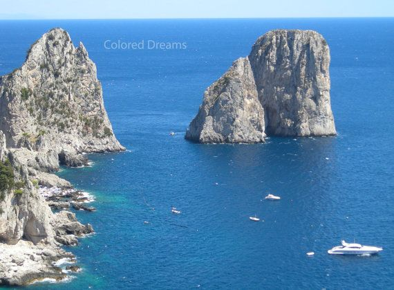 island of Capri  photography the sea the sea by LoveBeadJewerly