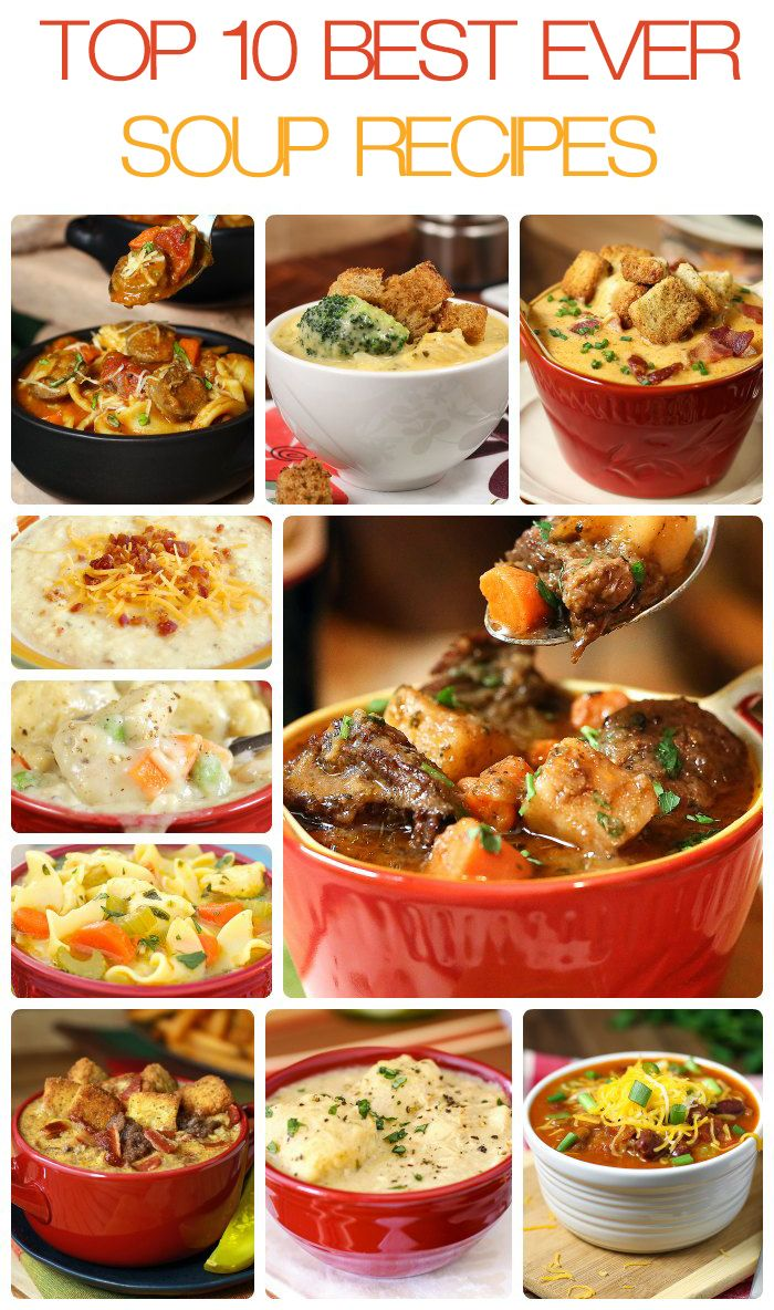 Top 10 Best Soups Ever #soup #recipe #stews @SlowRoasted http://cookmyblog.com