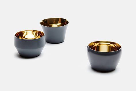 Skultuna — Special Edition Set Of 3 Kin Tealight Holders, Design Claesson Koivisto Rune Mole's Grey — THE LINE