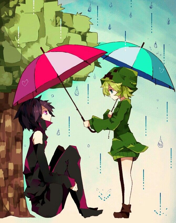 17 best images about minecraft anime yaoi on pinterest - Anime creeper girl ...