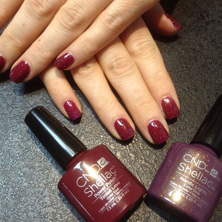 Layering shellac - tinted love and Nordic lights                                                                                                                                                     More