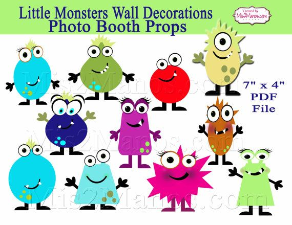 Little Monster Photo Booth Props  Birthday by M2MPartyDesigns, $5.00