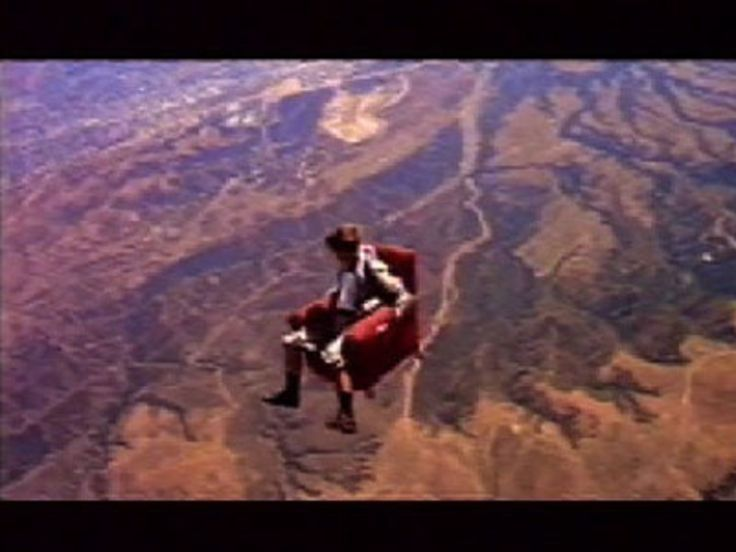 """Read more: https://www.luerzersarchive.com/en/magazine/commercial-detail/sony-widescreen-tv-23629.html Sony Widescreen TV """"Armchair"""" [01:00]# The excitement of watching a Sony TV is likened to that of plummeting out of an airplane in an armchair. To achieve the commercial´s spectacular look, one decided against modern blue-screen methods. Instead, a skydiver was strapped into an armchair and thrown out of a helicopter over California. Tags: Mike Boles,Jerry Hollens,Rose Hackney Barber…"""
