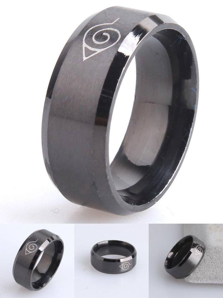 [Visit to Buy] drop ship ok anti allergy 2017 New width 8mm men Naruto rings stainless steel classic women ring jewelry hot #Advertisement