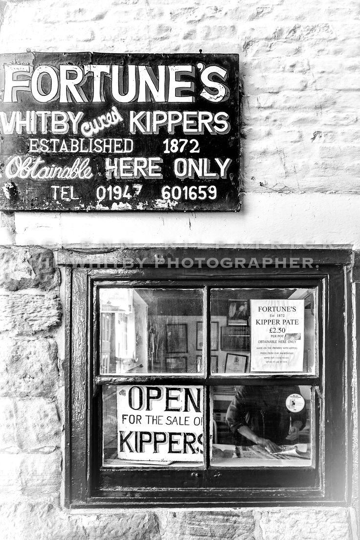 Through Billy Fortunes Window – Whitby Kippers