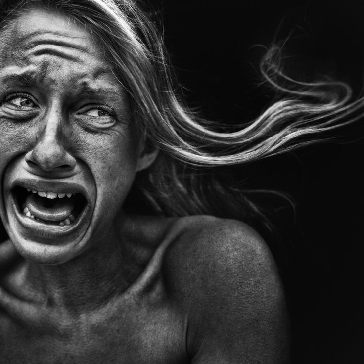 Photo Brittany. by Lee Jeffries. The face of pain, hurt, powerful expression, intense face, portrait, photo b/w.