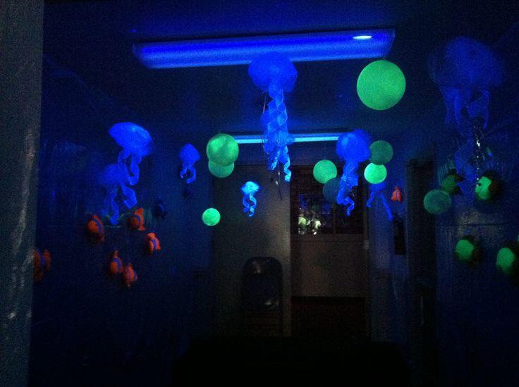 Jellies In The Black Light Room