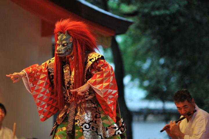 Noh performance, Hanazono Shrine, Shinjuku