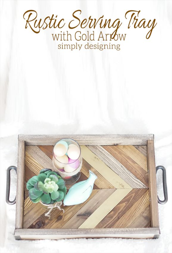 Rustic Serving Tray-Simply Designing I like the overall look, logo and header, like the button size,