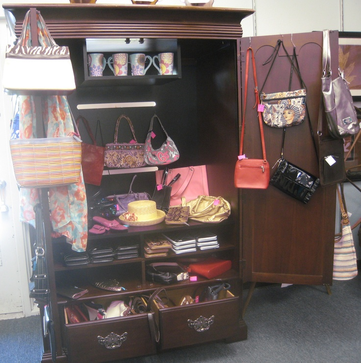 Thrift Store Armoire Repurposed Into Retail Boutique Store