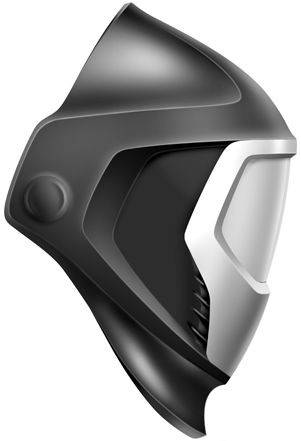 Weld Mask Product Industrial Machinery Concept Futuristic Angular Black
