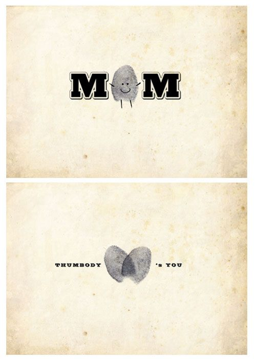 Mother's Day Thumbprint card