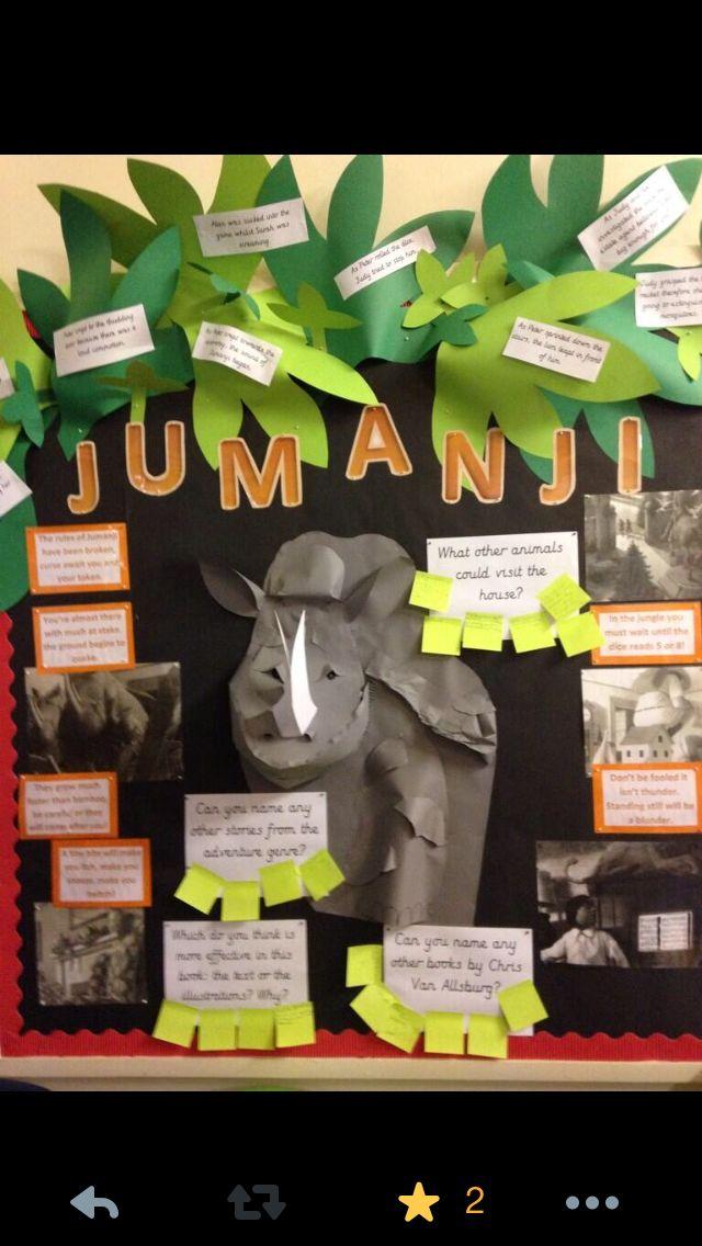 Amazing Jumanji book display ks2 book corner
