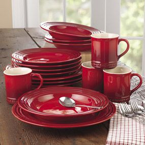 Shop Le Creuset Dinnerware Set, 16 piece at CHEFS.- we have some of these but I really want the plates