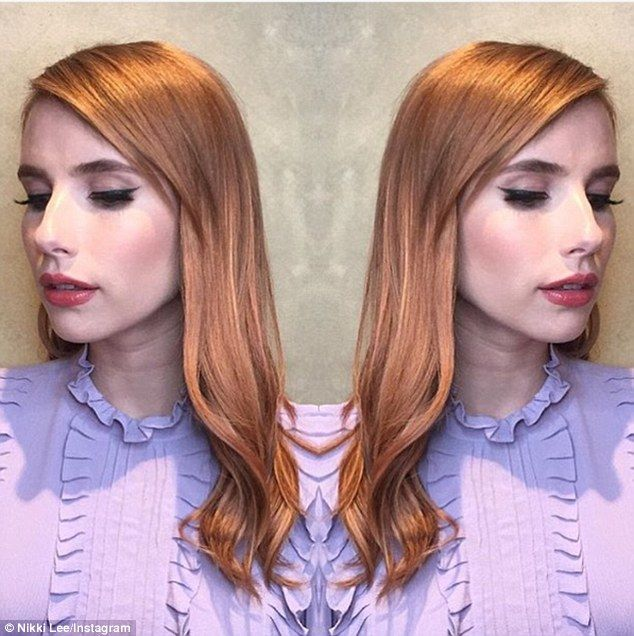 Switch it up: If you want a hair colour change, but can't quite commit to full-on red, try rose gold, as seen on Emma Roberts above, whose hairstylist called it 'desert rose' recently on Instagram
