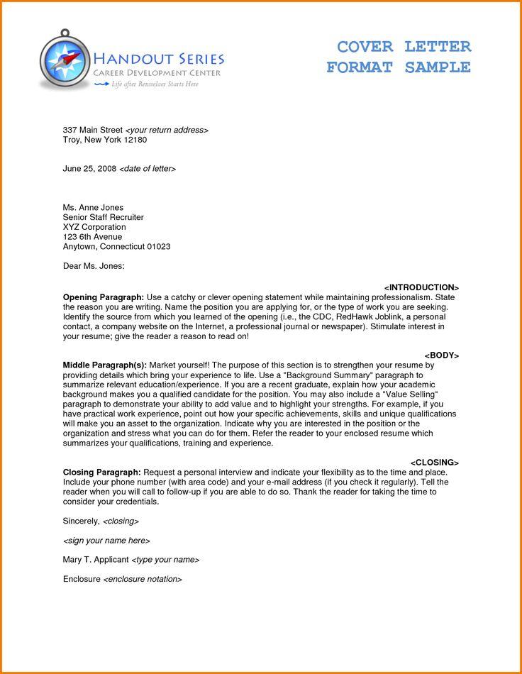 The 25+ best Formal business letter format ideas on Pinterest - formal letter format sample