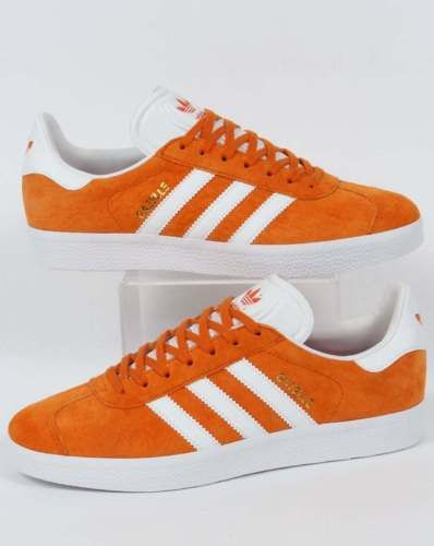 Adidas Originals - Adidas Gazelle Trainers in Unity Orange \u0026 White Suede