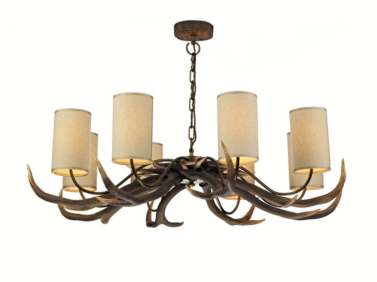 David Hunt ANT0829S Antler 8 Light Pendant with shades.