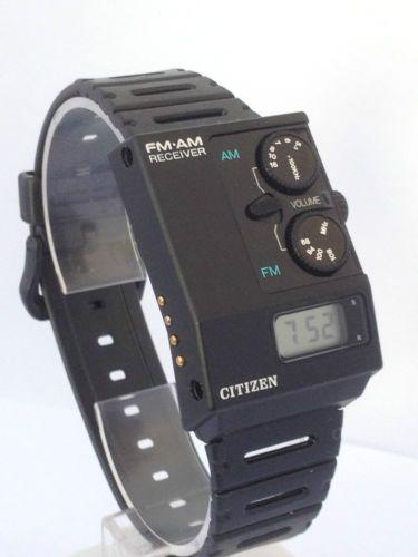 Citizen AM/FM watch (1985)
