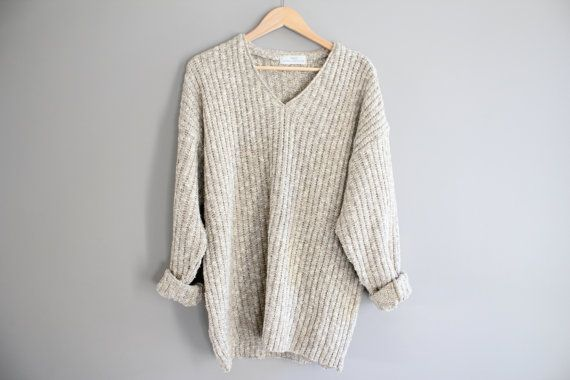 Marks and Spenser oatmeal natural cream slouchy loose by Amilialia