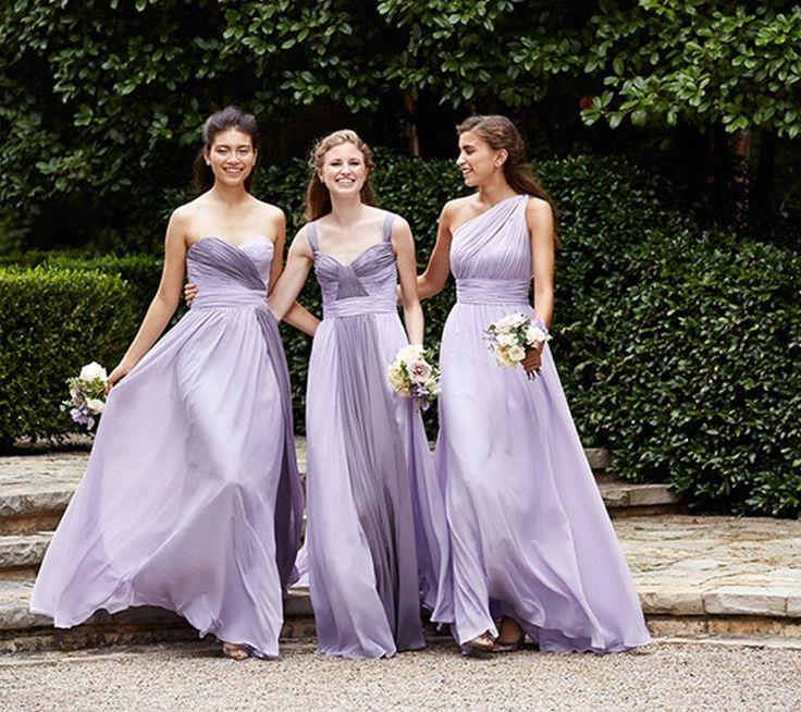 Colores degradados en los vestidos de damas de honor