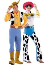Deluxe Woody and Deluxe Jessie Toy Story Couples Costumes - Party City