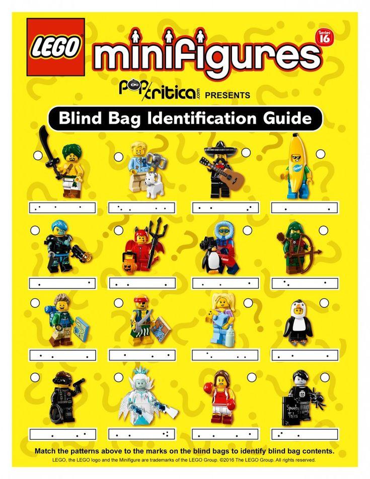 Lego Series 16 Minifigures Blind Bag Code Guide Lego