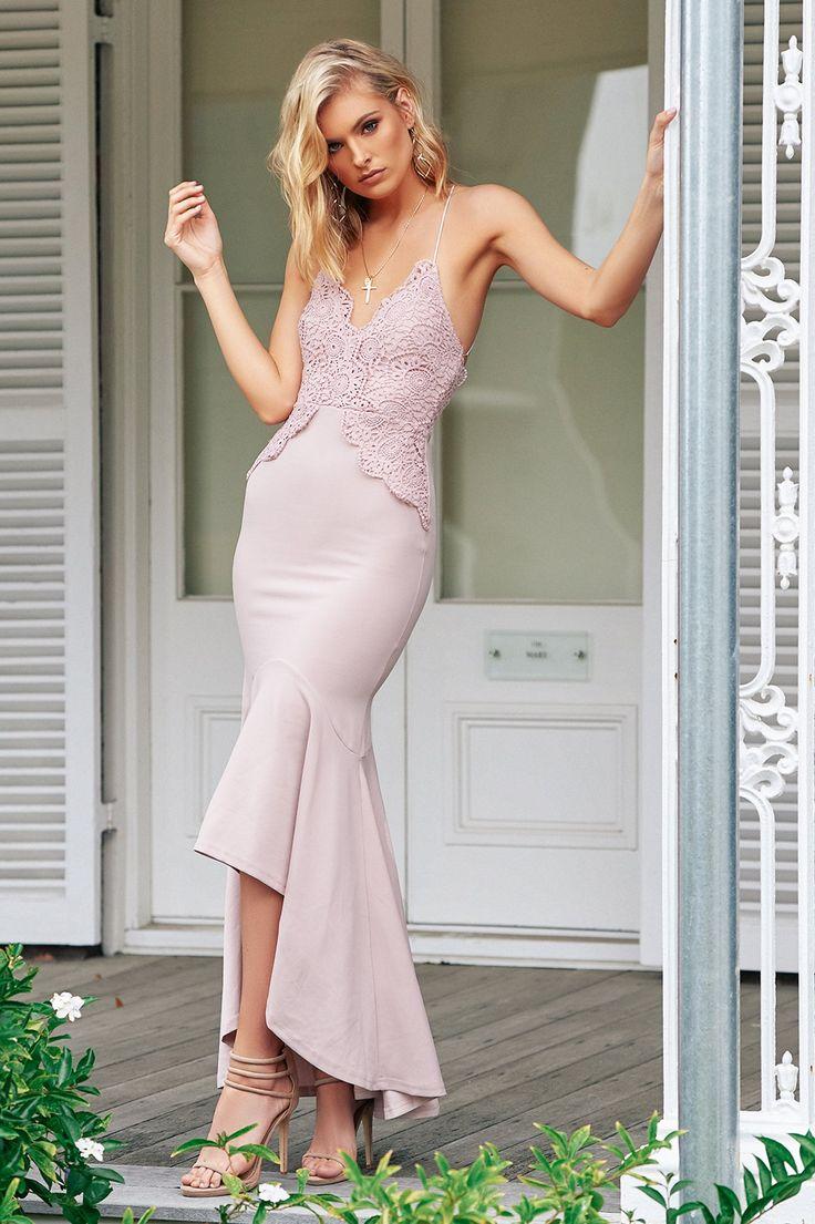 Angel Biba - Your Turn Maxi Dress (Blush)