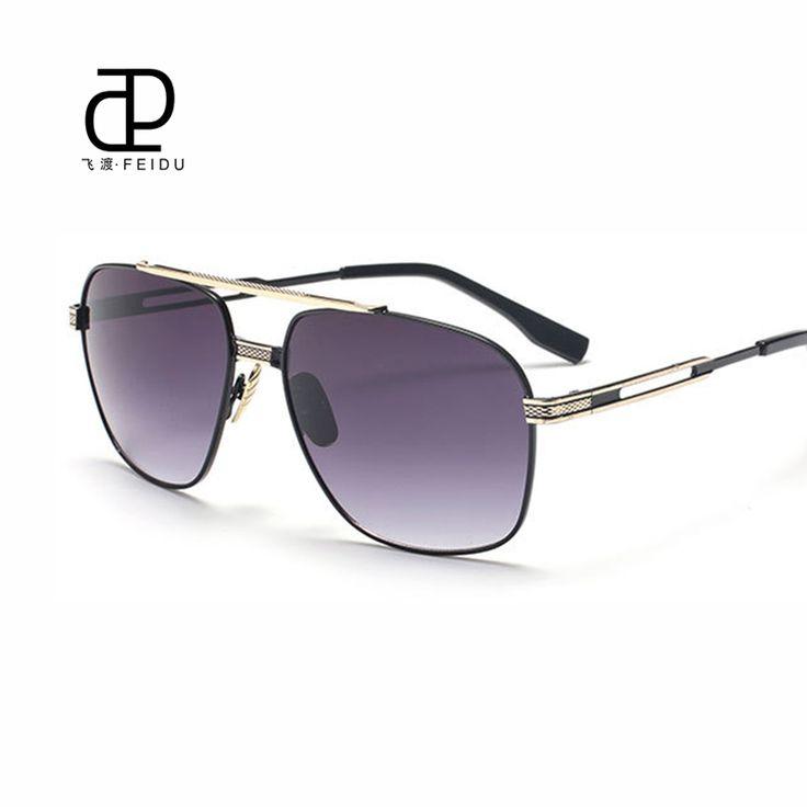 FEIDU Classic Metal Sunglasses Men Designer Brand High Quality Mirror Fashion Sunglasses Women Sunglasses Driving UV400 Oculos