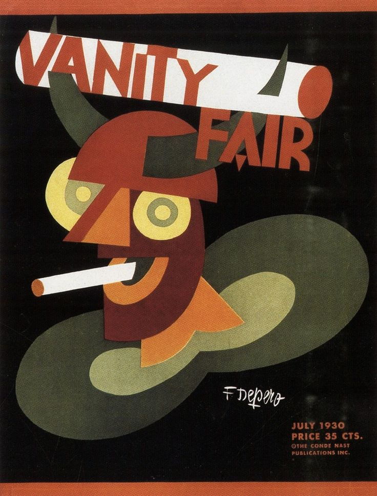 Fig 8: Fortunato Depero, Vanity Fair cover, July 1930.