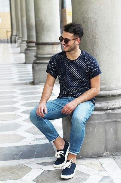 #Denim #jeans and print tshirt, #Vans