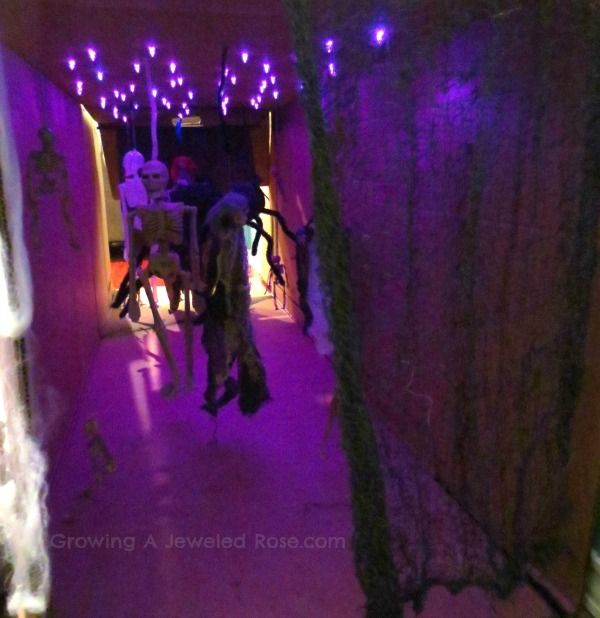 Crawl-through haunted house for the little ones! I'd make mine a little less creepy and little more fun and silly.