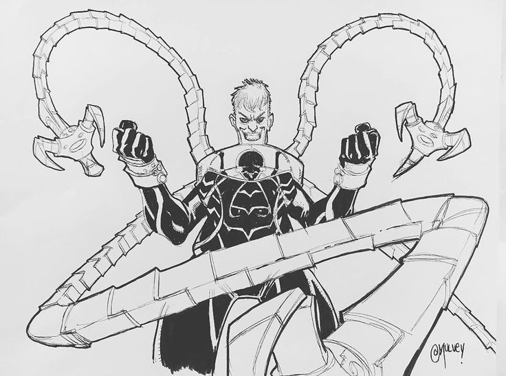 #Repost @joemulv  Today's warm up sketch is a new take on a classic Spidey Villain THE SUPERIOR OCTOPUS!  #spiderman #spidermanhomecoming #marvelcomics #marvel #comicart