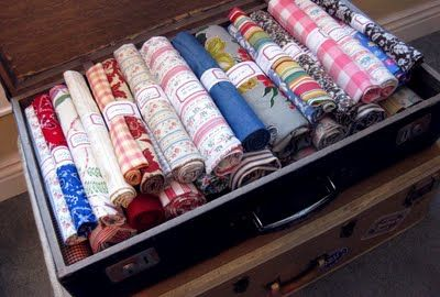 fabric storage with labels