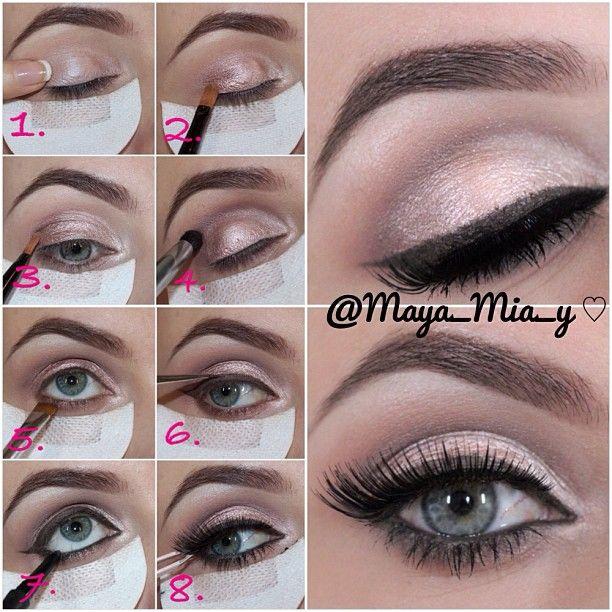 .@maya_mia_y | Prom look Pictorial 1.Apply MAC trophy big bounce shadow 2.MUA pink sorbe... | Webstagram - the best Instagram viewer