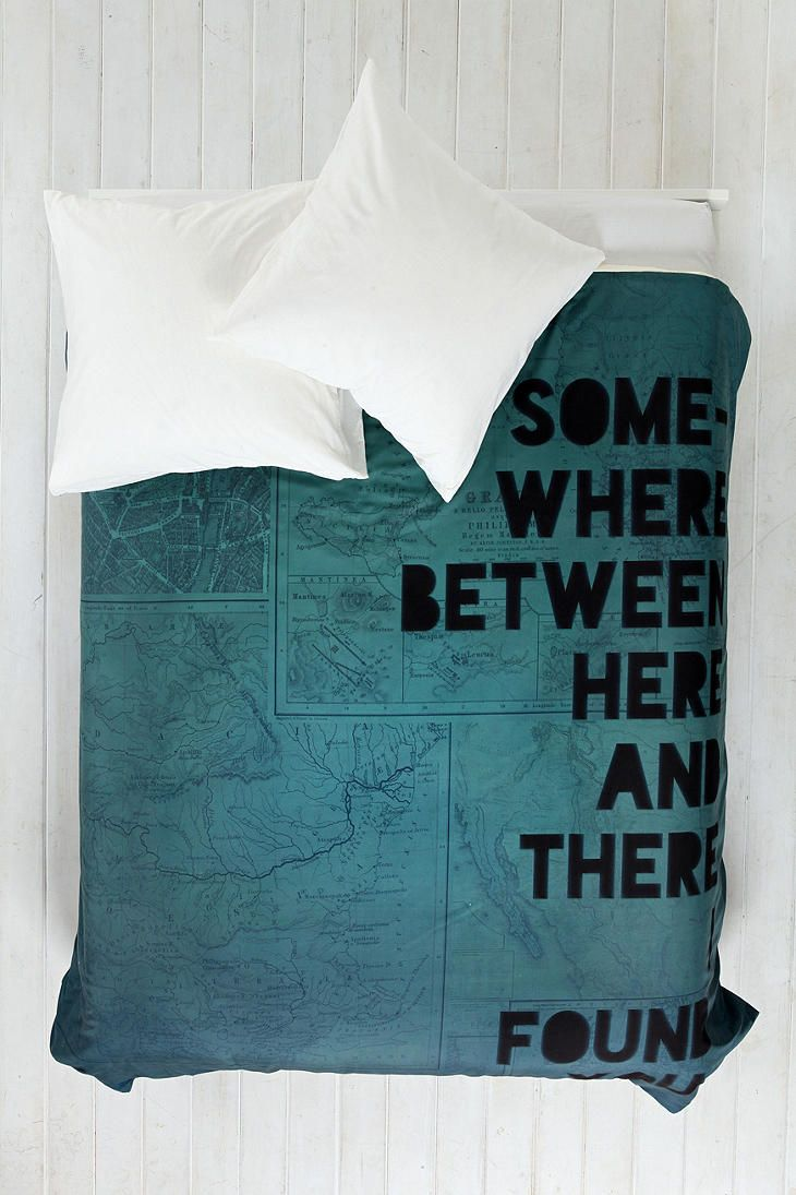 Leah Flores For DENY Here And There Duvet Cover