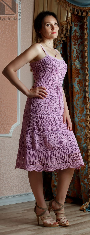 396 best Vestidos número 08 images on Pinterest   Crochet dresses ...