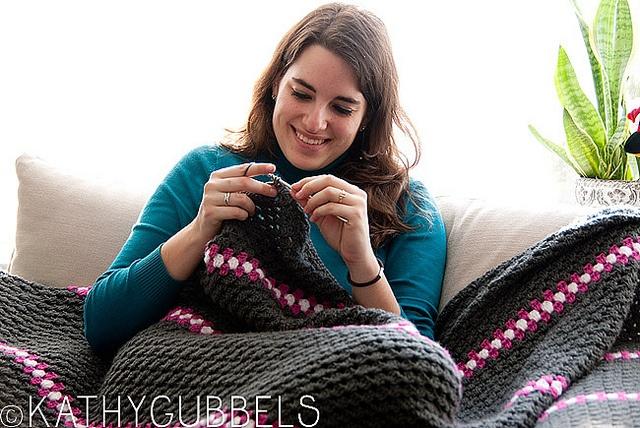 Crochet blanket. Gehaakte deken.