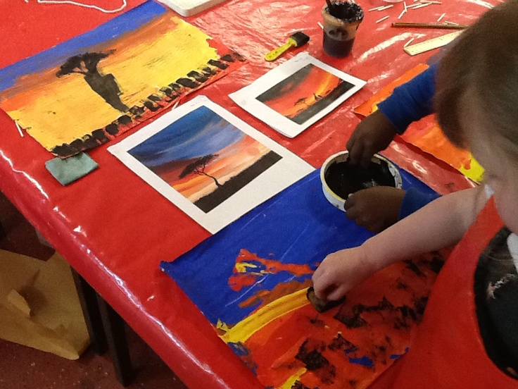 Making our own African landscapes :)
