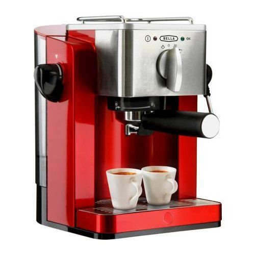 Bella BECM01 Espresso Coffee Machine - Red (223961699) Coffee options: espresso, cappuccino and latte.850 watts.15 bar pump pressure.Adjustable steam.Milk frother.Incorporated crema device.Water capacity 1.2 litres.Wat (Barcode EAN = 5020260121777) http://www.comparestoreprices.co.uk/december-2016-3/bella-becm01-espresso-coffee-machine--red-223961699-.asp