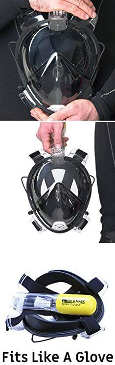 Scout Bag Reviews. #1 BEST 180° Full Face Snorkel Mask on Amazon, by North Scout - Clearview Technology with Easy Breathe Design and Silicone Facial Lining. (Black, S/M).  #scout #bag #reviews #scoutbag #bagreviews