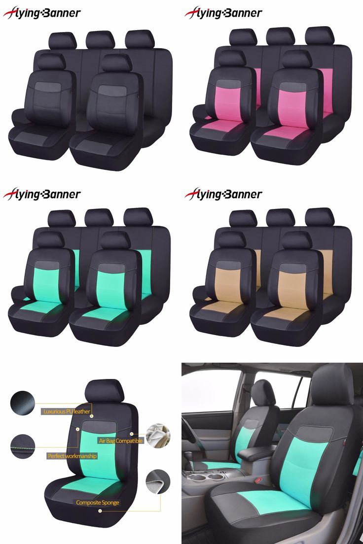 [Visit to Buy] High Quality PU Leather Car Seat Cover Universal 8 Colors Automotive Seat Covers For Toyota Kalina Granta Priora Renault Logan #Advertisement