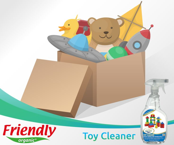 Friendly Organic Toy Cleaner Gently formulated using only natural, plant-based cleaning agents to clean all toy and nursery surfaces by not harming the nature. -Made with plant based natural ingredients -Balanced pH -Kind to sensitive skin -Biodegradable -Does not leave harmful residue -Fragrance free