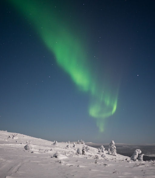 Nenne Åman witnessed this aurora from the Galtispouda mountain near Arjeplog, Sweden