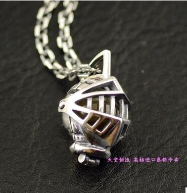 Купить товарОткрытый рыцарь шлем Тайский Серебряные Подвески, подарок…