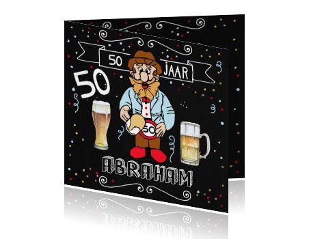 Uitnodiging Abraham 50ste verjaardag bier
