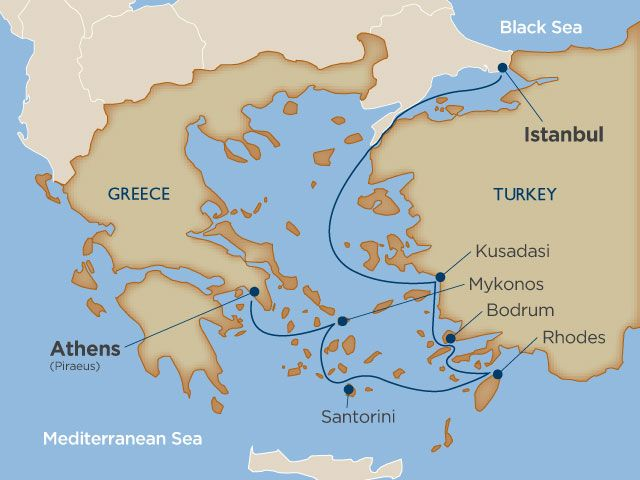 Greek Isles and Turkish Delightscruise itinerary and ports information. Fewer than 300 guest per cruise. Experience a luxury cruise with Windstar. voyage date Jul 16, 2016