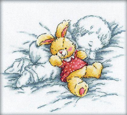 Baby and Rabbit de RTO - Pour les enfants - Kit Broderie - Casa Cenina