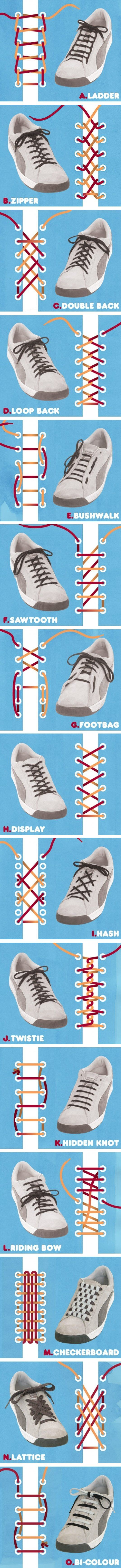 41 Shoe Lace Methods