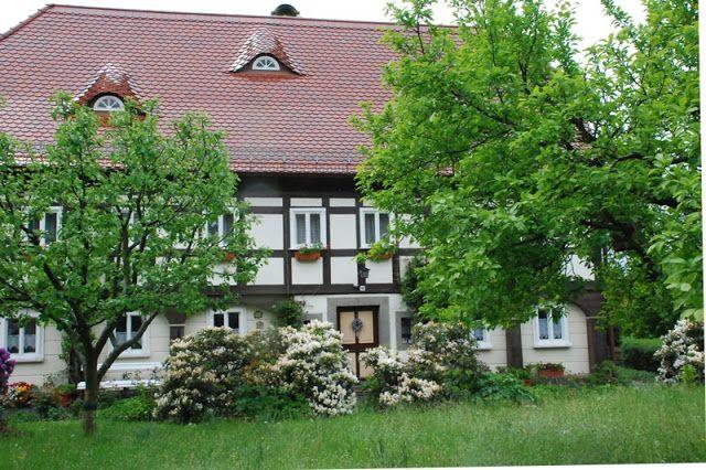 domy przysłupowe, ogrody wiejskie, Niemcy, Bogatynia, Obercunnersdorf